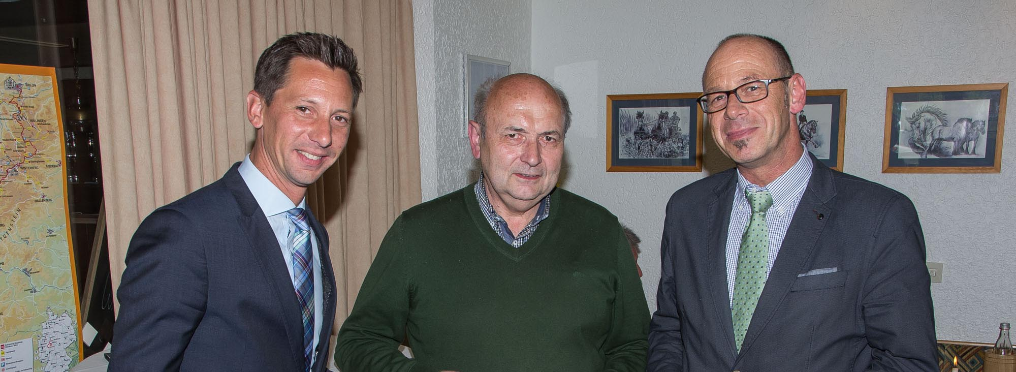 Landrat Andreas Müller, Peter Fasel und Arno Wied, Foto Michael Frede